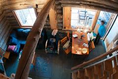 Blockhaus (koDesign) Tags: schnee snow suomi finland nikon finnland lappland skandinavien logcabin lapland scandinavian blockhouse blockhaus loghouse d300 luosto affisheyenikkor16mmf28d