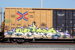 03232014 043 (CONSTRUCTIVE DESTRUCTION) Tags: train graffiti pieces streak tag trains tags boxcar graff piece boxcars moniker selar
