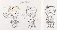 The Flintstones Bamm-Bamm Model Sheet (Hanna-Barbera, 1963) (Space Mutt) Tags: cartoon animation hannabarbera theflintstones modelsheet bammbammrubble