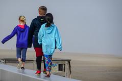 follow the leader (-gregg-) Tags: ocean city md boardwalk sand beach fog kids