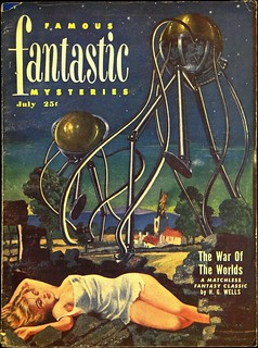 Famous Fantastic Mysteries Vol. 12, No. 5 (July, 1951). Cover Art by Lawrence Sterne Stevens