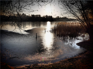 Winter mood at the lake Poenitz on another day