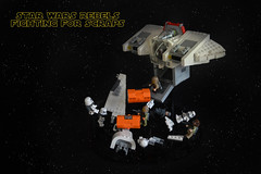 IDSMO- R3 - Fighting for Scraps (Kit Bricksto) Tags: lego star wars ghost idsmo r3 ids model moc olympics 2017 cargo container rebels ryloth space battle minifig hera syndulla jetpack shuttle