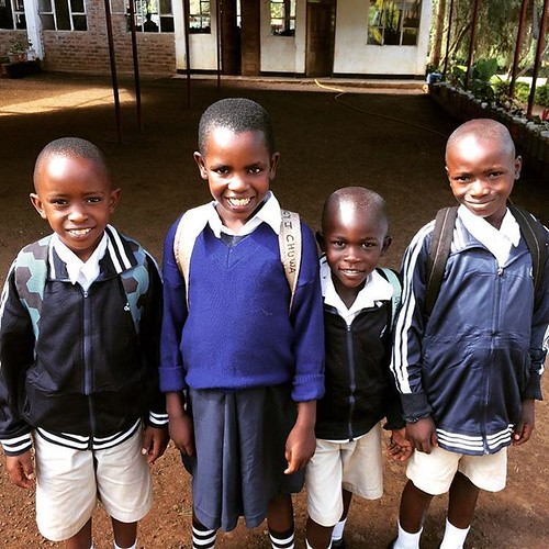 "Yesterday these four wonderful kids got the chance of a lifetime to go to boarding school at an English Medium school. John, Lucy, Godfrey and Ema were all entered into class 1 after completing 6 months at our academy. These were our four oldest children • <a style=""font-size:0.8em;"" href=""http://www.flickr.com/photos/59879797@N06/32701374114/"" target=""_blank"">View on Flickr</a>"