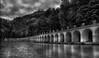 Briançon - Le parc de la Schappe (Eric@focus) Tags: silverefexpro2 park bridge pond bw noiretblanc monochrome neroametà filterforge5pro inexplore blackwhite zwartwit seleniumtoning 3000v120f skancheli artificiallightingfilter world100f nikond710018135mm blackwhitephotos