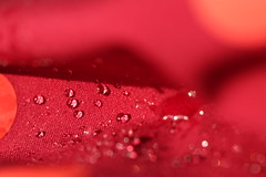 Macro Monday: Cloth/textile explored 27.3.17 (AngharadW) Tags: macromonday macro dof droplets waterproof material whatevertheweather angharadw wales cymru clothtextile cloth textile