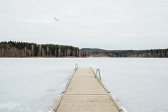 are lakes safe to swim in? (19seconds) Tags: frozen lake oslo sognsvann ice clouds jetty pier nikon28mmf18 norway