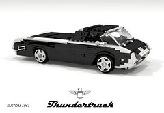 Kustom Ford Thundertruck (lego911) Tags: ford 1961 thunderbird thundertruck coupe hardtop pickup cab forward kustom custom auto acr moc model miniland lego lego911 ldd render cad povray 1960s classic v8 lino foryourexhibition challenge 113 for your exhibition foitsop