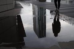 ... a spasso sotto la pioggia ... walking in the rain (Marco_964) Tags: pioggia rain water riflesso reflection grattacielo tower pentax ombra shadow acqua street stphotographia twop