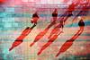 世に棲む緋々 -red shadows (Hodaka Yamamoto) Tags: lomography double doubles doubleexposure multipleexposure multiexposure shadow sunset xprocess xpro crossprocessed crossprocessing crossprocess beach sea silhouette street