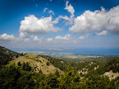 From Above... (Tassos Giannouris) Tags: kos greece trees hill landscape plants island clouds blue sky sea mountains above