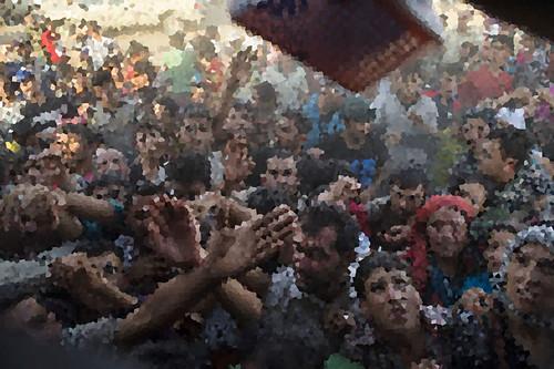 Civilians fleeing US proxy terrorists., From FlickrPhotos