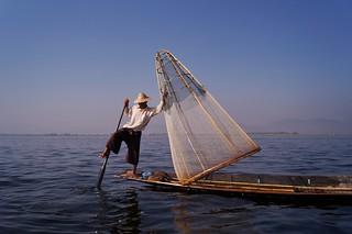 Lac Inle - pêcheur Intha 35