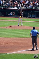 Matt Cain Gets Some Work In (danieltwomey) Tags: arizona az baseball giants old scottsdale set spring sun sunset town training
