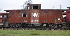 Coldwater, Michigan ( 7 of 10) (Bob McGilvray Jr.) Tags: coldwater mi michigan nw norfolkwestern caboose steel red cupola railroad train tracks littleriverrailroad