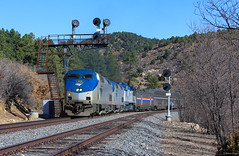 The Southwest Chief Passing the Searchlights (bkays1381) Tags: amtrak southwestchief amtk164 gep42dc colorado gallinascolorado gallinas amtrak3