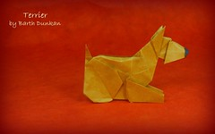 Terrier by Barth Dunkan (Thomas Krapf Origami) Tags: