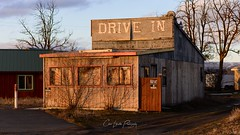 Drive In (Chris Lakoduk) Tags: drivein abandoned abandonedplace oldbuilding fallingapart rustic abandonedhouse abandoneddrivethru wood windows door color derelict unihabitable streetphotography oldplaces old grantcountywashingtonstate washingtonstate