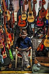 Guitar man (pedro katz) Tags: ecuador otavalo feria guitars topazlabs