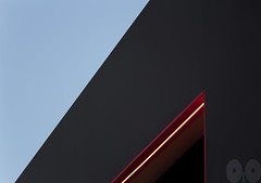 Minimal with Light (occhio-x-occhio) Tags: watermark sky architecture blue gray red evening web city iron oxo rome new smooth buildings g fb flickr