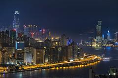 Devil's Peak, Hong Kong (mikemikecat) Tags: 東區走廊 island eastern corridor devils peak hong kong mikemikecat scenery cityscapes 香港 九龍灣 fe70200mf4goss sel70200g sony a7r 魔鬼山 天際線 twilight nightscape nightview night 夜景 yau tong