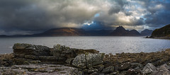 Stormy Elgol (wee_pete) Tags: storm color cloud sky skye elgol rock sea landscape panoramma seascape mountains cuillin black dawn shore outside nature beach sunrise