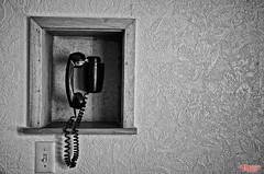 London Calling (MBates Foto) Tags: availablelight blackandwhite existinglight minimalist monochrome telephone wall spokane washington unitedstates 99205