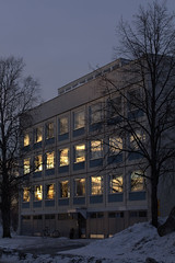 Morning glow (H E I D I - P U T K U R I) Tags: spring finland nature architecture sunrise shadows