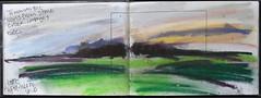 Late afternoon sky, December. (johnhumber48) Tags: landscape landscapedrawing pastellandscape pastels sunkisland sketchbookpages eastyorkshire agriculturallandscape