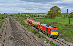 60100 at Llandevenny with 6B13 05.00 Robeston Sdgs to Westerleigh Murco , on 27.04.2017... (geecee2012) Tags: