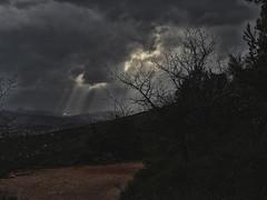 Sky (sebastiengobbie) Tags: sky cloud sun soleil nuage ciel orage tonnerre ambiance provence saintevictoire trees arbre colline montagne mountain light sunlight exposure lumière luminosité dark hill storm tempest thunderstorm ray sunshine