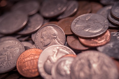 if I had a nickel... (87/365) (severalsnakes) Tags: 365 kansas m3528 pentax saraspaedy shawnee change coin dime k1 manual manualfocus money nickel penny quarter raynox250