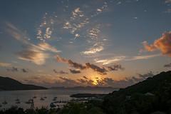 Day Break - Tortola,  BVI (bvi4092) Tags: nikon d300s photoshop nikkor 18105mmf3556 outside outdoor nikon18105mmf3556 travel bvi britishvirginislands caribbean westindies sea sunrise dawn landscape sun sky clouds island