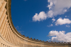 The Royal Crescent (darren.cowley) Tags: royalcrescent bath terrace geometric dramatic bluesky clouds columns architecture arch houses historic curve abstract england flickrfriday synecdoche