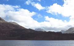 8445 Blue skies and mountains over glen Coe behind Loch Leven (Andy - Busyyyyyyyyy) Tags: 20170316 ccc clouds ggg glencoe lake lll lochleven mmm mountains sky snow sss water www