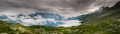 Cloud Blanket, Mont Blanc Massif    IMG_3400-Pano (Cozy61) Tags: mont blanc massif france mountains cloud invert path du midi pathway clouds panoramic canon 400d eos mrege adobe lightroom stormy sky peak rock aiguille