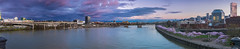Panoramic Portland (TwistedJake) Tags: portland oregon spring sunset clouds willamette river cherry blossom waterfront northwest colors park steel bridge water clear storm