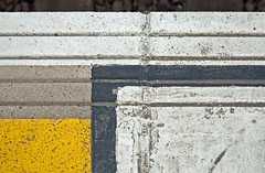 Abstract (jimj0will) Tags: odc abstract trainstationplatform yellow geometrical lines concrete