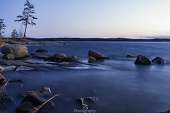 By the lake (Taavi Salakka) Tags: nature lanscape water lake stones rocks landscapes naturephotography natureoffinland evening dusk olympus omd em10 panasonic 1442mm lappeenranta finland spring lakescape