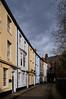 Prince Street (kendo1938) Tags: kingstonuponhull eastyorkshire england gb street road cobbles cobbledroad buildings terracedhouses colours colors sky clouds cobbledstreet