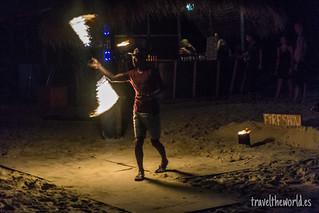 Fire show Long Beach