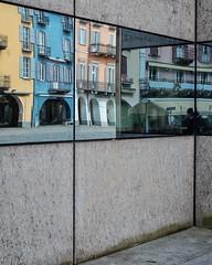 la piazza grande, locarno (dan.boss) Tags: mirror building facade reflection switzerland ticino locarno piazzagrande