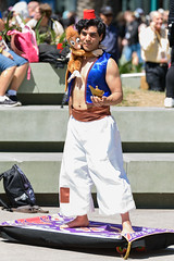 Wondercon 2017 - Aladdin and Abu (rikioscamera) Tags: anaheim anaheimconventioncenter conventionevents cosplay costume wondercon wondercon2017 d750 lightroom nikon aladdin disneyanimation abu magiccarpet