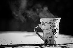 Coffee Time. (sdupimages) Tags: dof 7dwf proxiphoto stillife bokeh café coffee nb bw noirblanc blackwhite