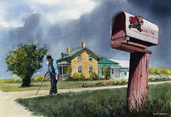 No Mail Today (Earl Reinink) Tags: art painting watercolor watercolorpainting amish mennonite farm garden home earl reinink earlreinink mail mailbox