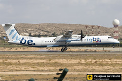 Dash 8 Flybe G-ECOJ (Ana & Juan) Tags: airplane airplanes aircraft airport aviation aviones aviación dash8 bombardier flybe landing alicante alc leal spotting spotters spotter planes canon closeup propeller turboprop