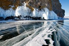 Baikal Magic (setoboonhong) Tags: travel lake baikal southern siberia russia okhlon island rocky bank frozen ice white icicles lichen rocks transparent lines patterns snow winter landscape attractions