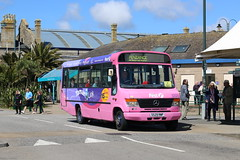 Tamar Link Mercedes Benz 0814D | Penzance Bus Station | Penzance Running Day 2017 (Jacob Tyne) Tags: penzance vintage running day 2017 16th april cornwall buses s529rwp s529 rwp merecedes benz 0814d first devon tamar link