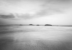 White sand (Chamikajperera) Tags: sand long exposure canon beach waves fine art abstract sky morning