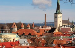 Towers, church and old and new town. (irio.jyske) Tags: wall tower town townscape tallin estonia roof church see port pipes houses building sigma canon